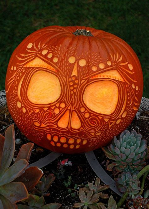the 25 best ideas about skull pumpkin on pinterest