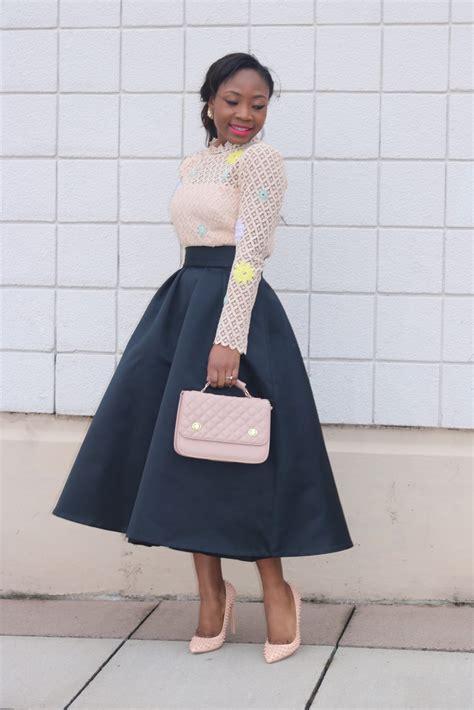 edaowo fashion lace blouse midi skirt