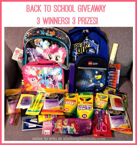 Back To School Giveaways - mega back to school giveaway event a helicopter mom
