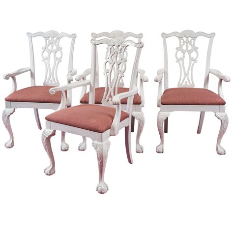restaurant armchairs four chippendale revival dining armchairs for sale at 1stdibs