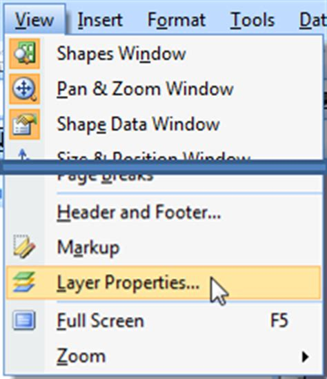 visio shape properties bluespring processview how to assign shapes to a layer