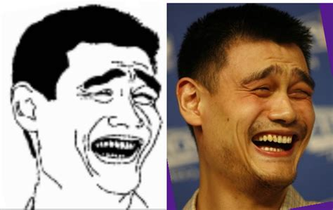 Yao Ming Face Meme - photos yao ming s face photoshopped throughout the ages