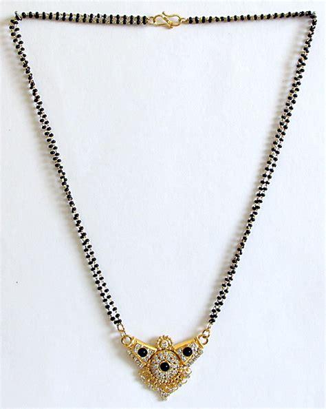 black chain designs and black pendant nalla pusalu