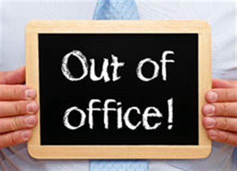 Out Of Office Sign by An Out Of Office Sign Royalty Free Stock Image Image