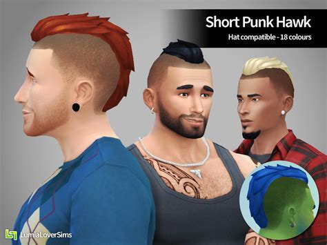 sims  hairs lumia lover sims short punk hawk hairstyle