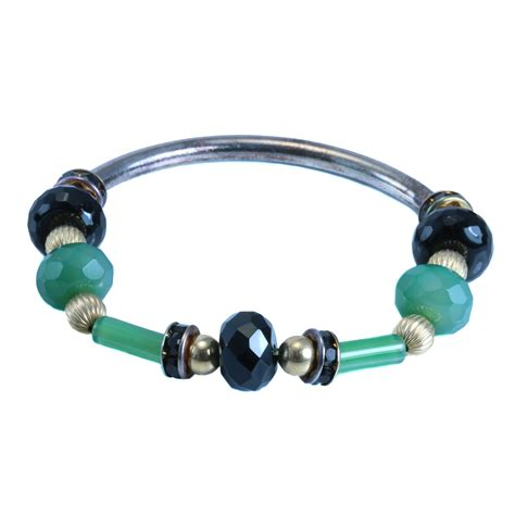 agate bracelet with silver 8treasures