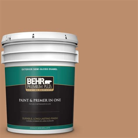 behr premium plus 5 gal 260f 5 applesauce cake semi gloss enamel exterior paint 540005 the