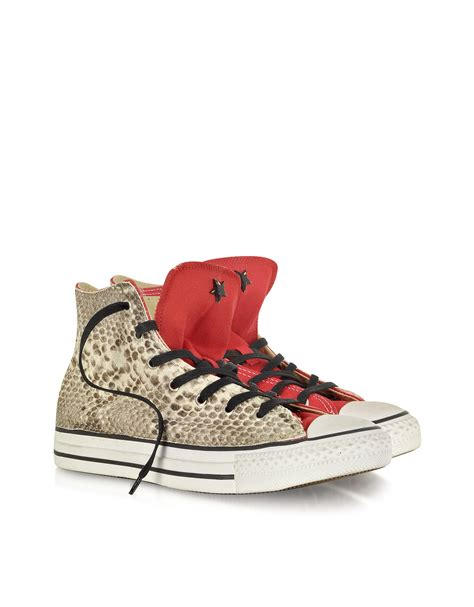 Converse Limited Edition Chair Print Shoe by Lyst Converse All High Canvas And Snake Ltd