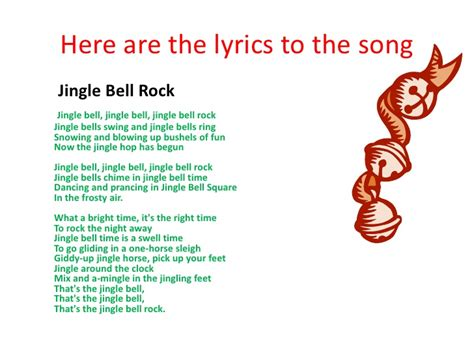 testo canzone jingle bell rock presentation