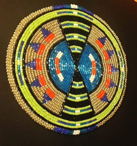beaded medallions beaded medallion beadwork geometrical