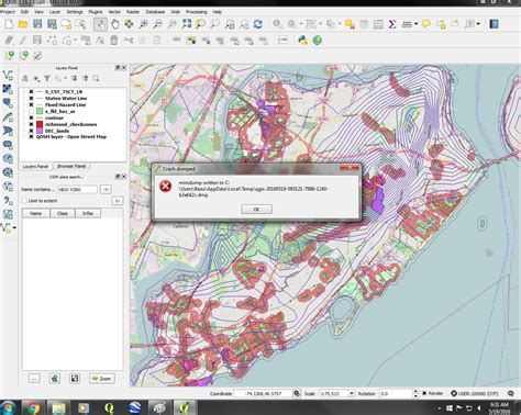 qgis layout zoom openstreetmap qgis unexpectedly crashing geographic