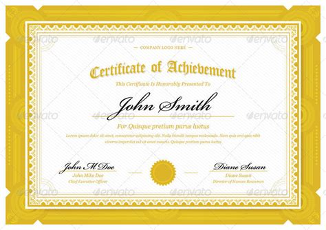 landscape certificate templates yellow landscape template certificate gold landscape