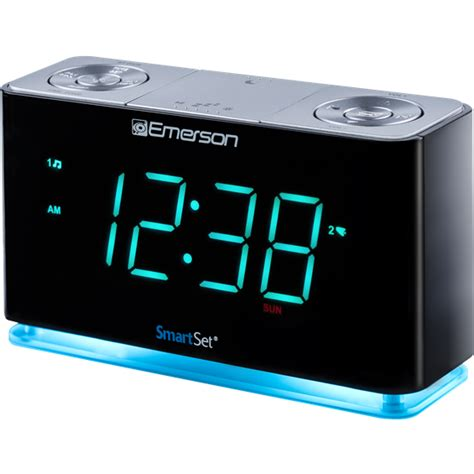 smartset alarm clock radio with bluetooth speaker usb charger for iphone and android