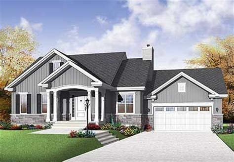 Open Concept Bungalow House Plans Canada Plan 21977dr Budget Bungalow Exterior Colors House Plans And House
