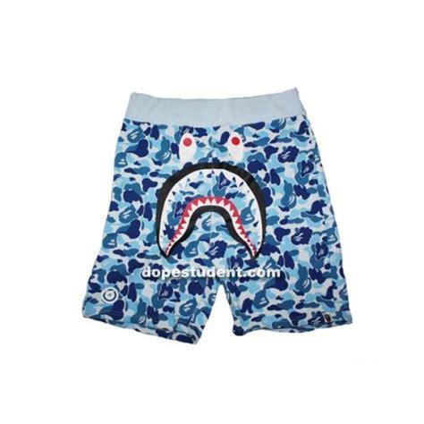 Bape Abc Camo Shark Blue bape half city camo shark shorts dopestudent