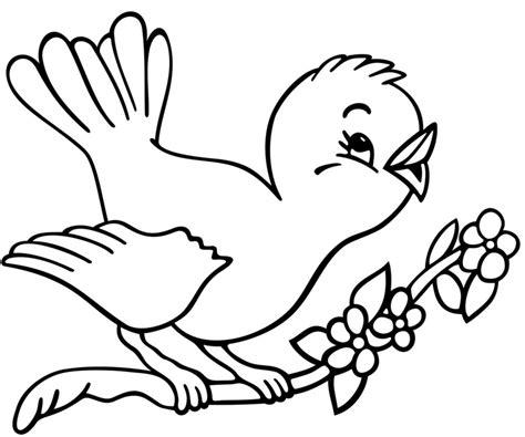 fiori disegnati da bambini disegno di uccelli primavera da colorare schede
