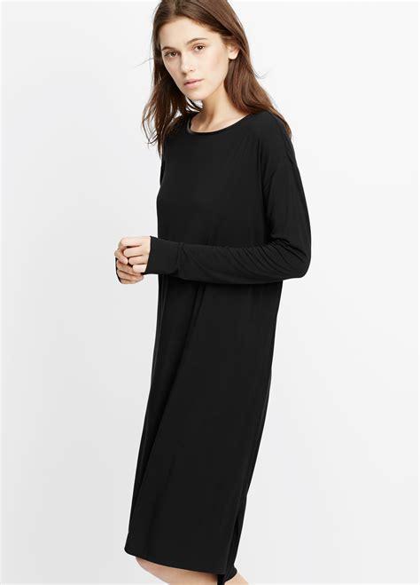 S4065 Kemeja Import Black Soft Cotton Shirt La Kode Yt4065 Lyst Vince Luxe Cotton Blend Sleeve T Shirt Dress