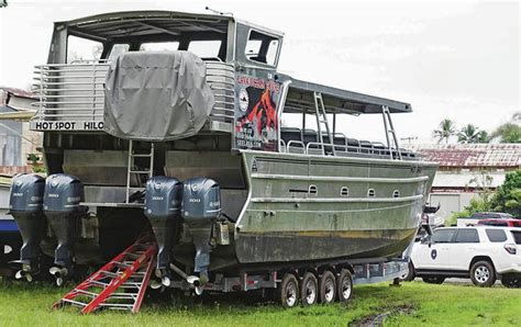 lava boat tour lava bomb lava bomb through roof of tour boat injures 23 off hawaii