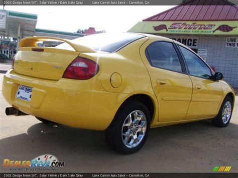 2003 dodge neon sxt 2003 dodge neon sxt solar yellow slate gray photo