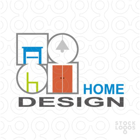 home interior design logo fancy deco logo design icon and avatar home interior