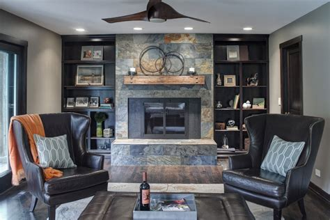 houzz fireplace mantels living room transitional with sofa
