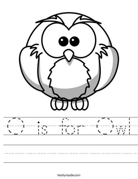 printable owl worksheets o is for owl worksheet twisty noodle