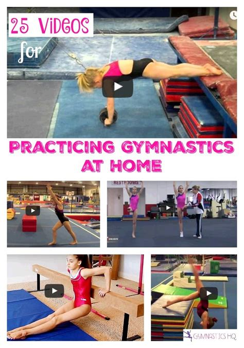the 25 best ideas about gymnastics at home on
