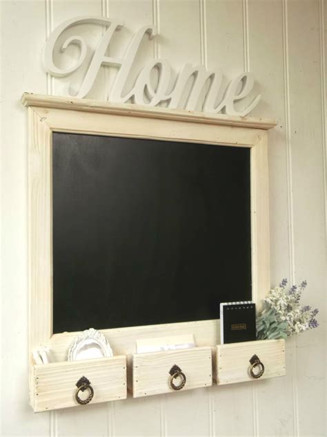 large shabby chic rustic wall hung blackboard chalkboard
