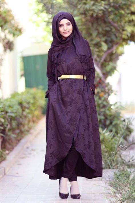 Gamis Kaftan 2 Tone style with abaya 12 chic ways to wear abaya with