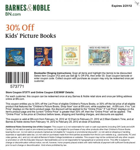 printable gift card barnes and noble barnes n nobles coupon codes coupon codes blog