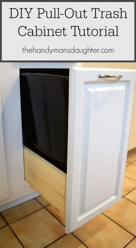 pull out trash can cabinet diy pull out trash can cabinet tutorial the handyman s