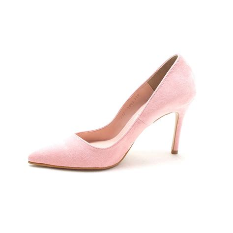 pointed toe high heel pumps s pointed toe pink faux suede high heels pumps
