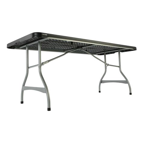 Lifetime 6 Foot Folding Table Lifetime Stacking Folding Tables 480350 6 Foot Black Top 4 Pack