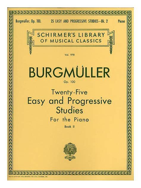 Buku Piano Burgmuller Op 100 friedrich burgmuller twenty five easy and progressive