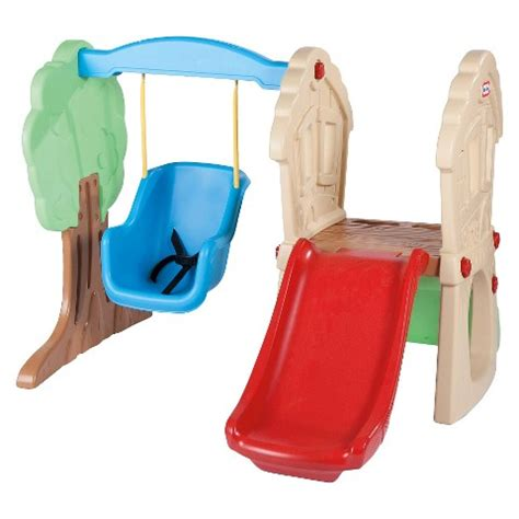 little tykes slide and swing little tikes hide seek climber swing target