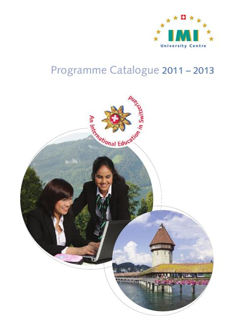 Imi Europe Mba by Imi Programme Catalogue 2011 2013 By Hotelschoolsearch