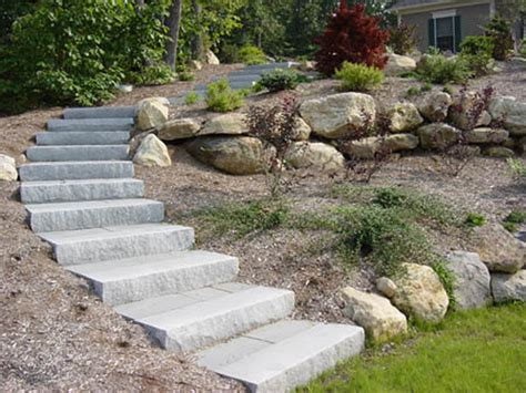 landscaping stairs connecticut granite steps concrete steps landscape steps