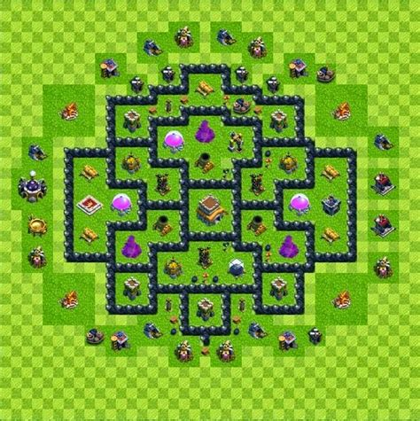coc village layout level 8 tipe defense base layout town hall level 8 clash of clans