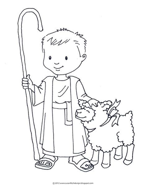 Shepherd Coloring Pages free coloring pages of shepherd and sheep