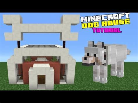 how to make dog house in minecraft minecraft tutorial how to make a dog house youtube minecraft pinterest dog