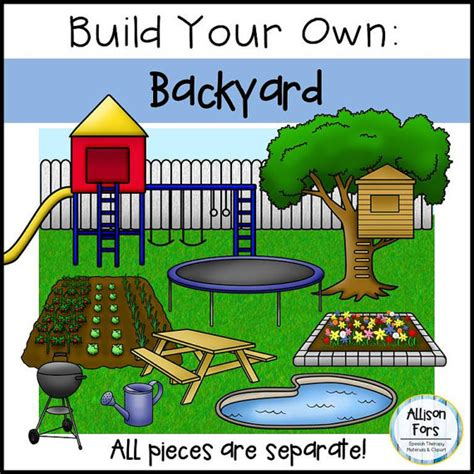 build your own backyard build your own backyard clip art