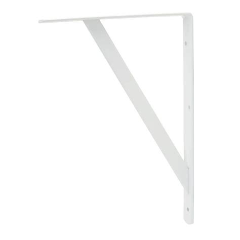 everbilt 20 in x 13 in white heavy duty shelf bracket