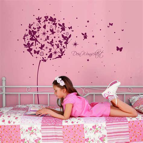 Wandtattoo Kinderzimmer Pusteblume by Wandtattoo Pusteblume Mit Feen Schmetterlingen Und Sternen