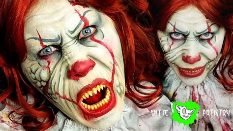 zombie clown tutorial zombie pennywise the clown makeup halloween tutorial it