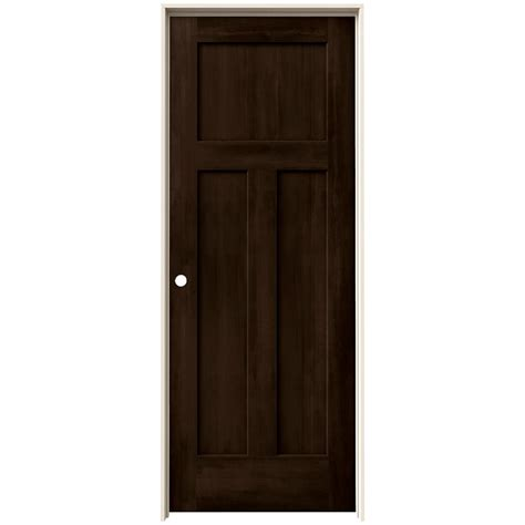Mdf Interior Door Jeld Wen 24 In X 80 In Craftsman Espresso Stain Right Molded Composite Mdf Single Prehung