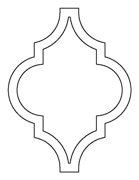 pattern frame template moroccan pattern use the printable outline for crafts