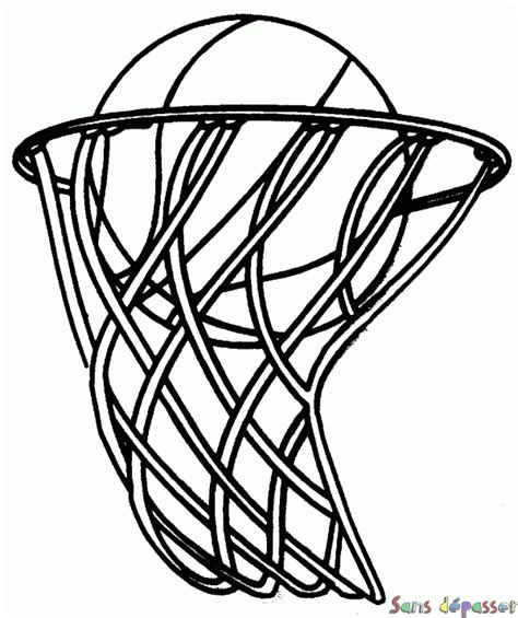 real basketball coloring pages coloriage panier de basketball sans d 233 passer