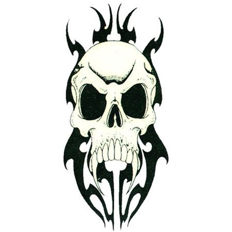 tribal and skull tattoo designs 25 cool tribal skull tattoos only tribal