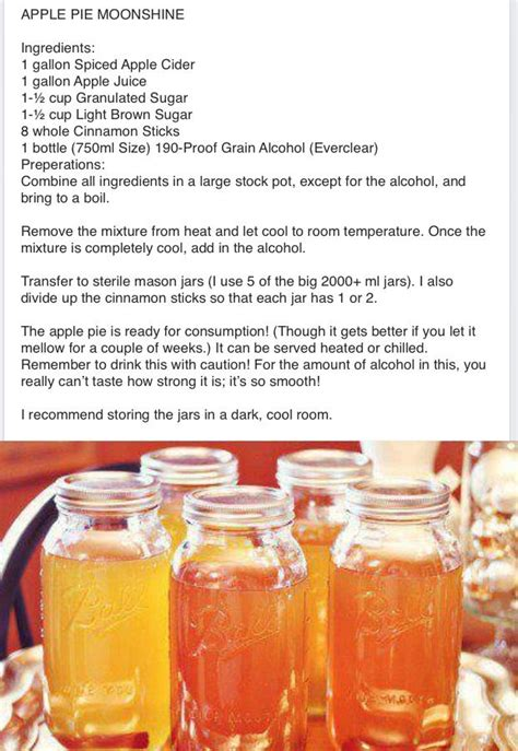 17 best ideas about apple pie moonshine on pinterest fall drinks alcohol flavored moonshine