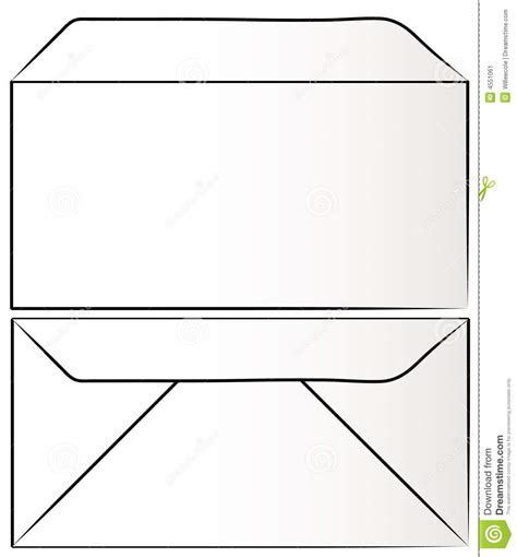 front and back of envelope stock image image 4551061